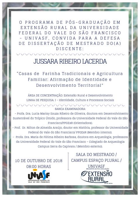 Convite  Jussara Lacerda
