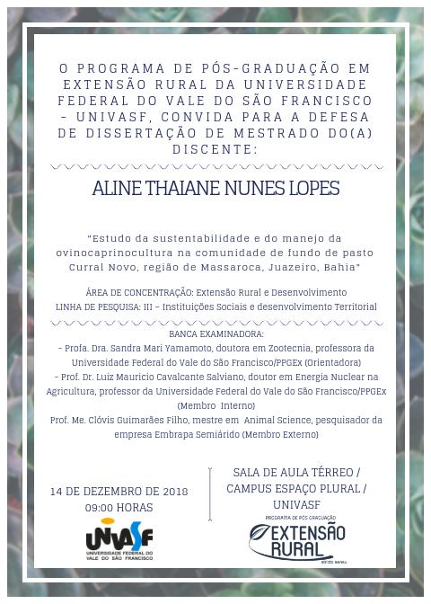 Convite Defesa Aline